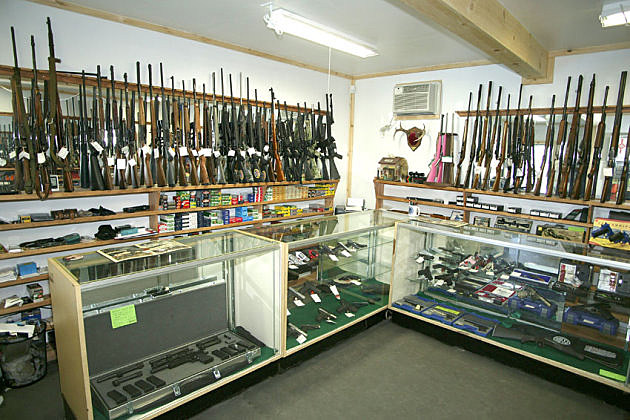 Firearms display case