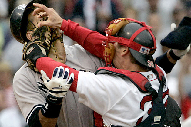 Jason varitek, Alex Rodrigues, Basebrawl, Red Sox Yankees