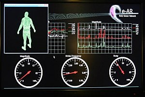 Heart monitor on treadmill