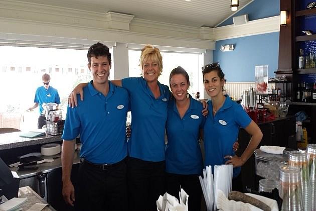 Crew at Splach cabana bar