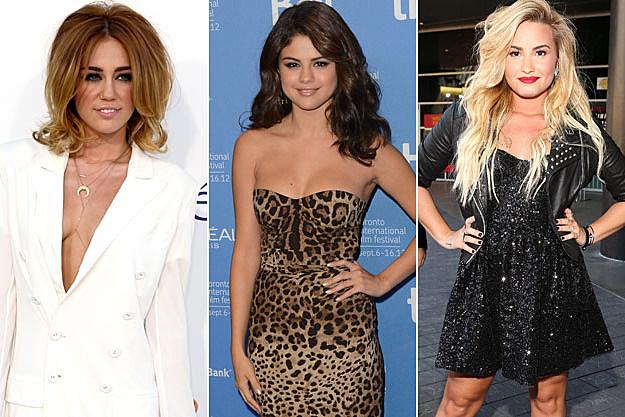 Miley, Selena, Demi