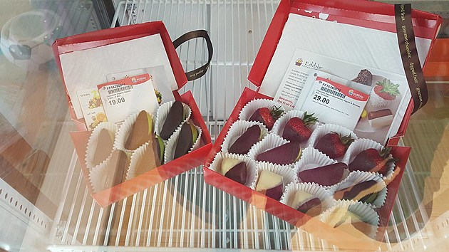Dipped fruit at Edible Arrangements in Augusta, Maine