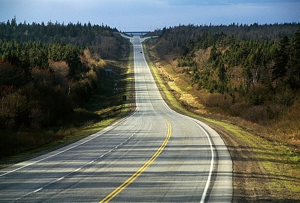 Road between Yarmouth and Digby, Nova Scotia